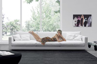 Sofa Viersitziges Sofa design Domenica