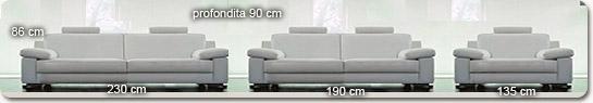 Italienisch couchgarnitur hillary aus leder for Boden italienisch