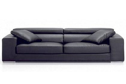 italienische sofa aus leder kennedy. Black Bedroom Furniture Sets. Home Design Ideas